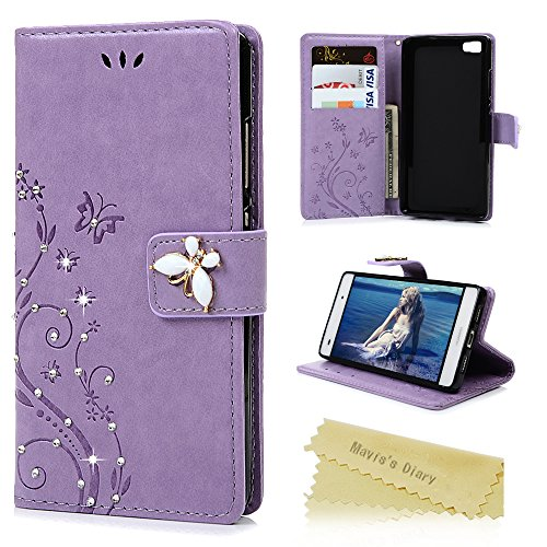 huawei-p8-lite-2015-case-p8-lite-case-2015-model-maviss-diary-bling-diamonds-gems-wallet-flip-cover-