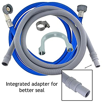 SPARES2GO Universal Cold Water Fill Long Inlet Pipe Feed + 2.5m Drain Hose Extension Kit (3.5m) from SPARES2GO