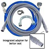 Spares2go Universal Cold Water Fill Tubo di Alimentazione (3.5m) + 2.5m Kit di Estensione del Tubo di Scarico