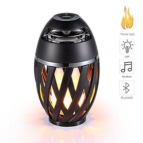 GUORZOM LED Flamme Licht Bluetooth Audio Outdoor Tragbare 360 ° Stereo-Lautsprecher Freisprecheinrichtung Sprache Tipps Bunte Blitze Lighing, 1Pack