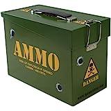Kombat UK Kids Army Ammo Tin - Toy Storage Box - Lunch Box - Olive Green, N/A