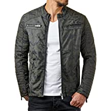 best website b1964 25220 giacca in pelle uomo - Verde - Amazon.it