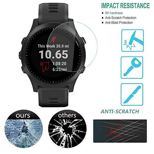 Smart Watch Schutzfolie_Tianya ♡ 2Pcs Hartglas Displayschutzfolie Für Garmin 945 Smart Watch