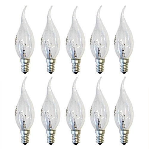 10 x Kerzen Glühlampe Windstoß Cosy 40W E14 klar Glühbirne 40 Watt Glühlampen -