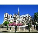 Barlingrock Catedral de Notre Dame, Junto al Lago, Foto París, Francia Pegatina Impresa para el Dormitorio de Las niñas Arte de la Pared Etiqueta de calcomanía Pegatinas de Arte en 3D Habitación de v