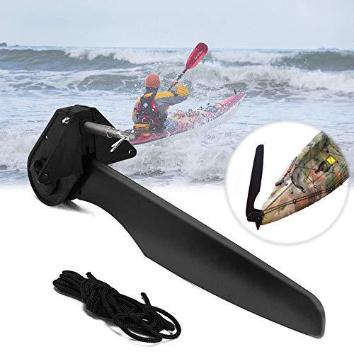 FidgetGear Canoa de Fibra de Vidrio de Nailon para Kayak, Kayak, Barco, timón con Sistema de dirección