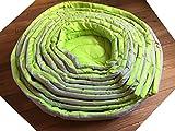 Doggy Hundebett/Katzenbett 45cm Durchmesser 11,5cm hoch, grün/grau, waschbar, super komfortabel und robust
