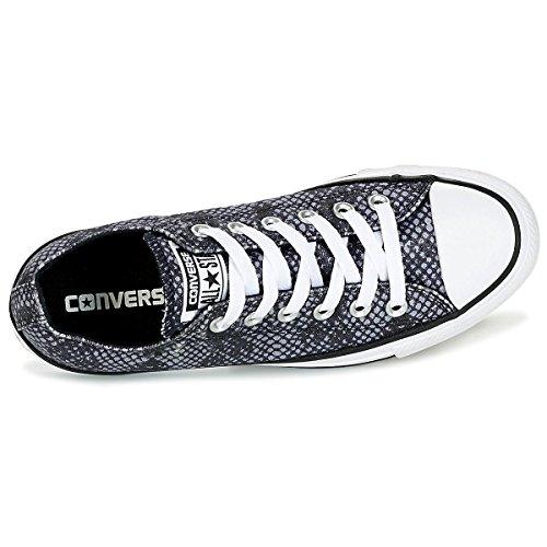 Converse Femmes Chuck Taylor All Star Ox Canvas Baskets Noir Sharkskin Blanc