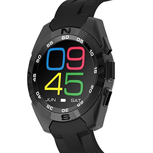 Smartwatch Integrata Fitness Tracker Activity Tracker Cardio Hr Orologio Da Polso Ragazza - Bluetooth smart orologio / Music Player Bluetooth & Anti-Perso Di Ricordo HIG5 - ( Nero )