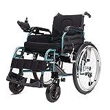 Elektro-Rollstuhl Walker Intelligent Control Trolley Transport Lademobilitätshilfen Ausrüstung leichte, tragbare Faltrollstühle Walker Black -