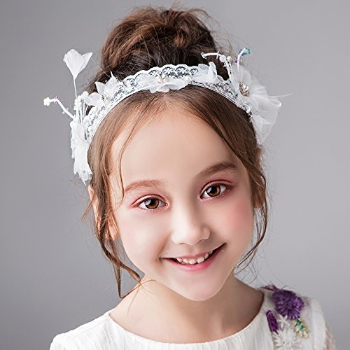 AdornHome Mädchen Kopfschmuck Kinder die Haare hoop Mädchen Kostüme Haarschmuck Prinzessin Zubehör kleines Mädchen kopfschmuck Flower Girl geburtstag Kranz Blume ()