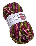 Hot Socks color Gründl Farbe 402 Sockenwolle Strumpfwolle Wolle zum Socken Stricken