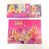 Stationary Set For Kids Premium Quality Barbie Combo Pack Includes Folder, Jumbo Pencil Box And Lock Code Diary For Kid Perfect Birthday Gift Return Gifts Online To Students By ShopKooky