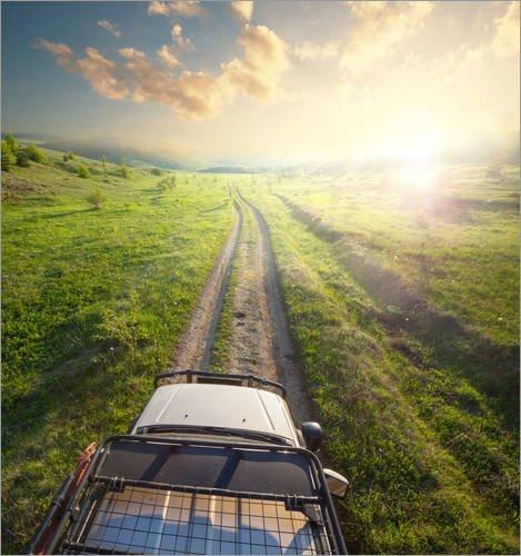 Stampa su tela 100 x 100 cm: truck in expedition di Colourbox - poster pronti, foto su telaio, foto su vera tela, stampa su tela