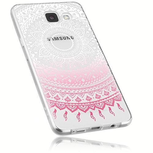 mumbi Schutzhülle Samsung Galaxy A5 (2016) Hülle im Mandala Design in transparent rosa
