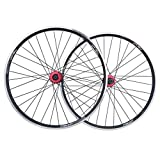 Zyy Set Ruote Bici da 26 Pollici, Cerchio a Doppia Parete MTB a sgancio rapido V-Brake Hybrid/Mountain Bike Hole 7 7 9 10 velocità Posteriore Mozzi (Color : Black)