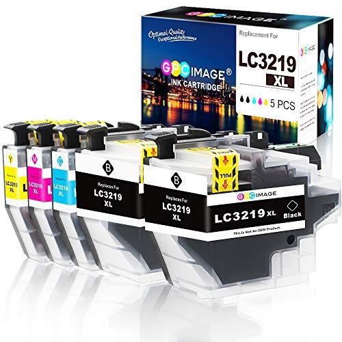 GPC Image LC3219XL kompatible Tintenpatronen für Brother LC3219XL Ersatz für Brother MFC-J5330DW MFC J5335DW MFC J5730DW J5930DW J6530DW J6930DW J6935DW Drucker (2 Schwarz, 1 Cyan, 1 Magenta, 1 Gelb)