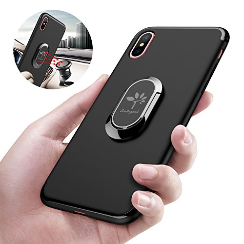 best loved ba7b5 6263d EINFAGOOD Iphone X Case with Magnetic Ring, 360 Degree rotating ...