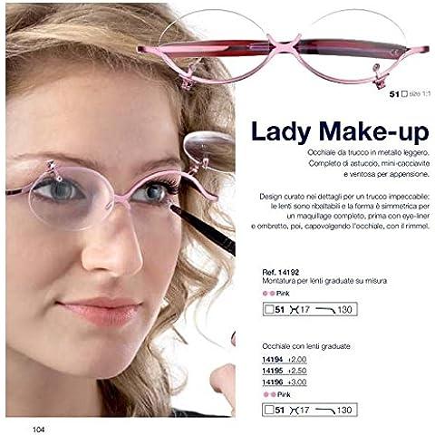 Gafas para maquillaje en metal italiana CentroStyle flip up +2.00 +2.50 +3.00 (+2.00)