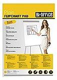 Bi-Office Bloc de papel para Pizarra Rotafolios, A1, Blanco, 20 Hojas por Bloc, con perforación, 70 g/m², Paquete de 5 Bloques
