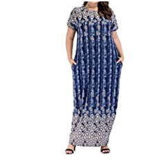 1f8020c5a29 zhbotaolang Muslim Women Plus Size Short Sleeve Summer Casual .