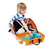 Trunki Ride-on Suitcase und PaddlePak Koffer-Set, 18 Liter, Orange - 3