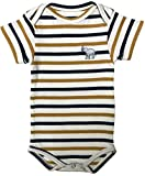 East Club London Unisex Baby-Strampler im Streifen-Look White-Yellow, 0-3 M