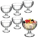 Bormioli Rocco Alaska Ice Cream Sundae Dessert Appetizer Cocktail Glasses - Set of 6
