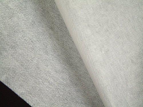 1 lfm. Bügelvlieseline, fest in weiß, 50 g/m², 90 cm breit, für mittelschwere bis schwere Stoffe, einseitig doppelt gepunkteter Kleber, Vlieseline