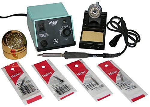 Preisvergleich Produktbild Weller (Apex Tool Group) WES51 Analog Soldering Station with Screwdriver / chisel tip Bundle,  ETA (1 / 16),  ETB (3 / 32),  ETC (1 / 8),  ETD (3 / 16) & Hakko 599B-02 Waterless Cleaner. by Apex Tool Group