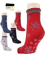 Thermo Home Socks strümpfe rutschfest Damenstrümpfe (RS-14435) - inkl. EveryHead-Hutfibel