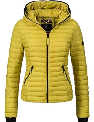 Navahoo Damen Jacke Übergangsjacke Steppjacke Kimuk (vegan hergestellt) Zitronengrün Gr. XXL