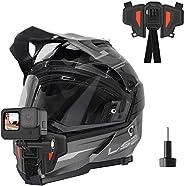 TELESIN - Supporto per videocamera con montaggio anteriore per casco da moto con mento curvo, per GoPro Hero ,