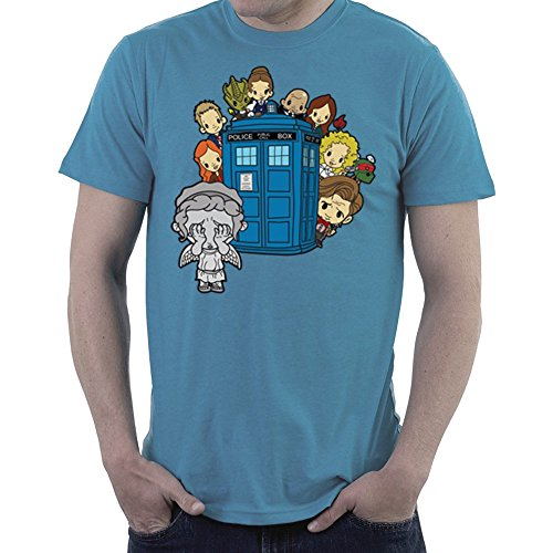 ngel Hide and Seek Matt Smith Tardis Men's T-Shirt (Doctor Who River Song, Shirt)