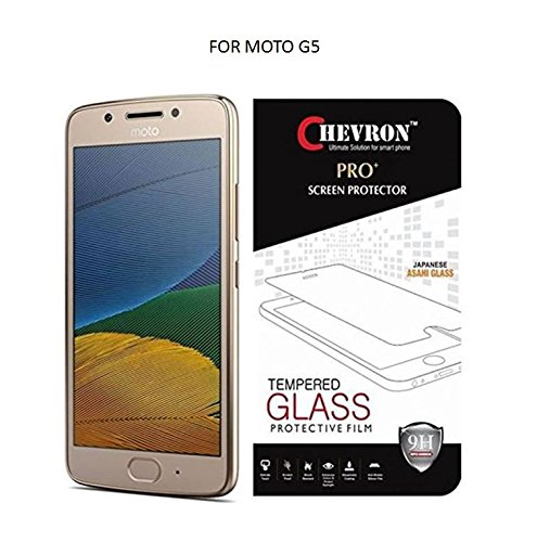 Chevron Moto G5 [5th Gen 5inch 2017] Screen Protector Tempered...