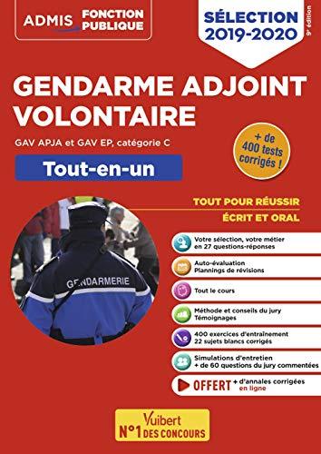 Gendarme adjoint volontaire - GAV APJA et GAV EP - Catégorie C - Tout-en-un - Épreuves de sélection 2019-2020 par  Dominique Herbaut, Bernadette Lavaud, François Lavedan