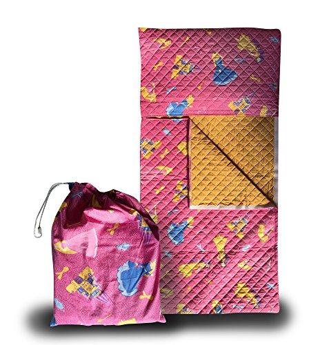 Set asilo - principesse fuxia - sacco nanna + sacchetto asilo - 2-6 anni