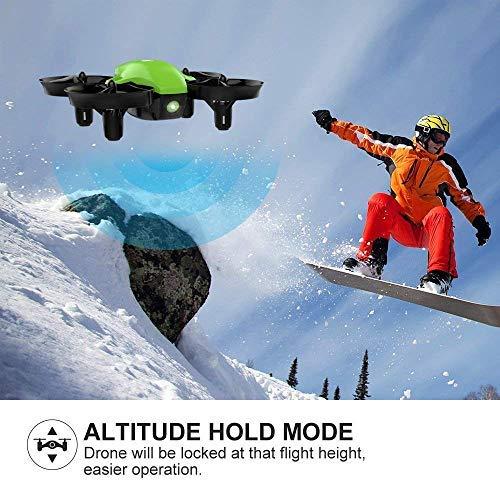 Potensic Mini Drone,  RC Drones Quadcopter para Niños y Principiantes con Modo sin Cabeza,  Altitud Hold,  Alarma de Batería y 3 Modos de Velocidad,  4 Canales 6- Ejes,  Regalo y Juguete (Verde)