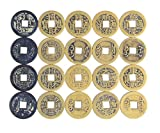 AlphaAcc 50pcs Fengshui Fortune Chinese Coins Lucky Swaps Feng Shui Coin Swaps for Geocache Geocaching Swaps Antique Metal