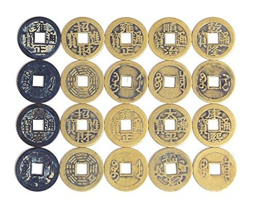 alphaacc Perlenkette Fengshui 50Fortune Chinesische Münzen Lucky swaps Feng Shui Münze swaps...