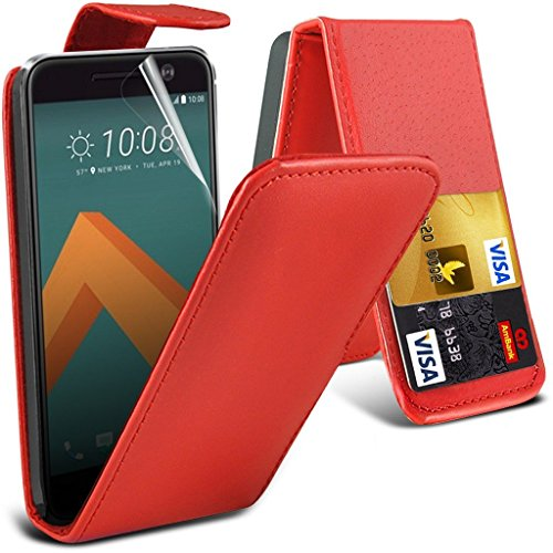Samsung Galaxy J7 2016 étui ( noir ) couvercle pour Samsung Galaxy J7 2016 boîtier durable book style portefeuille en cuir polyuréthane élégant couvercle rabattable classique étui couverture de peau+  PU Flip ( Red )
