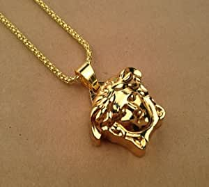 Collier de Hip Hopcatégorie de mode de collier d'or Versace logo