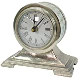 OLILEIO Schmuck Pendeluhr Aluminium natürliche Shell Oberfläche Alte antike Uhr, Amerikanische ländliche Pendeluhr