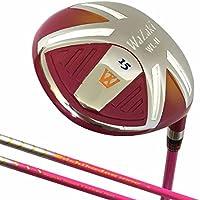 Japan Wazaki WL-IIs Lady Mx - palo de golf de acero y madera de Fairway + Funda de cuero, flexibilidad Señoras, loft 15, Right