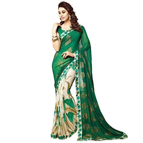 Desgaste de India étnicas Bollywood Party Sari diseñador paquistaní del regalo de boda Sari para las mujeres