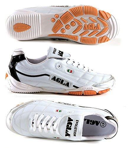 AGLA , Chaussures pour homme spécial foot en salle 25,5 Blanc