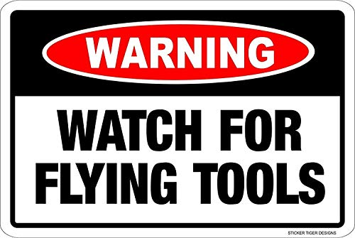 Blechschild Metal Tin Sign Aluminum Warning Watch Flying Tools Novelty Danger Sign 12