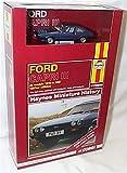 Corgi blue ford capri III 1978-1987 haynes miniature history car book set 1:43 scale diecast model