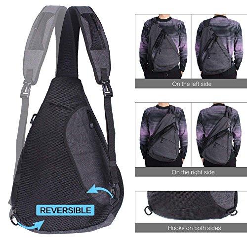 Unigear Sling-Rucksack, Sling Bag Schulterrucksack Umhängetasche Daypack Crossbag mit Verstellbarem Schultergurt Perfekt für Outdoorsport...