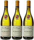 François Martenot France Burgundy Vin Blanc Parfum Vignes AOP Bourgogne Chardonnay 75 cl - Lot de 3